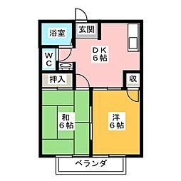 イケガヤコーポ[2階]の間取り