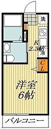 JR総武線 平井駅 徒歩6分の賃貸アパート 3階ワンルームの間取り