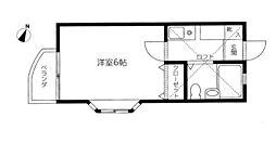 新浜アパートK5[201号室]の間取り