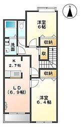 シエルエトワール(Ciel Etole)[2階]の間取り