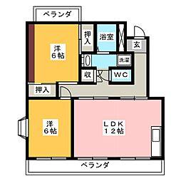 コーポ稲垣C[3階]の間取り