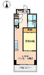 マルイラベンダーヒルズ 9階1LDKの間取り