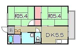 ロジュマンK[1階]の間取り