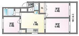 末廣マンション[4階]の間取り