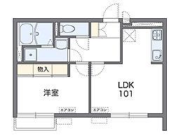 近鉄南大阪線 河内松原駅 徒歩21分の賃貸アパート 2階1LDKの間取り