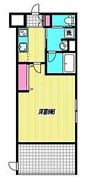 JR中央本線 三鷹駅 徒歩9分の賃貸マンション 1階1Kの間取り