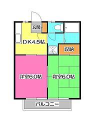 埼玉県所沢市小手指元町1丁目の賃貸アパートの間取り