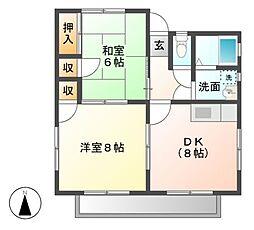 陣屋ハイツ No.1[1階]の間取り