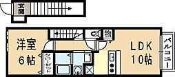 コリネッタシンワ[2階]の間取り