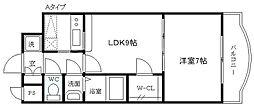 ノルデンタワー新大阪アネックス A棟[24階]の間取り