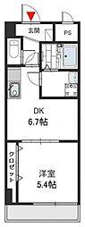 Social Village(ソシアル ビレッジ)[7階]の間取り