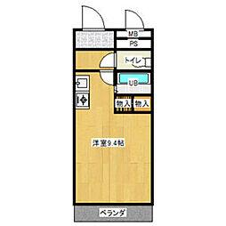 メゾンA4[206号室]の間取り