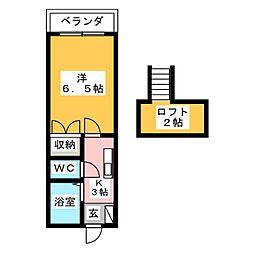 ローザンヌ春日井[1階]の間取り