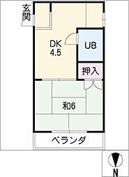 白陽ビル[3階]の間取り
