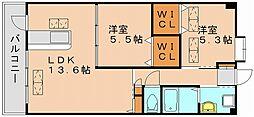 フェルメール[2階]の間取り