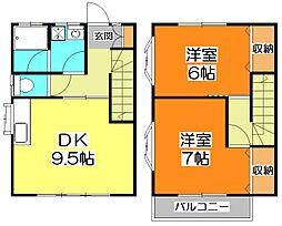 [テラスハウス] 東京都東久留米市幸町1丁目 の賃貸【/】の間取り