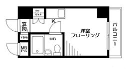東京都八王子市暁町1丁目の賃貸マンションの間取り