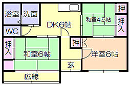 [一戸建] 福岡県久留米市長門石3丁目 の賃貸【/】の間取り