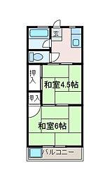 はづきコーポ[1階]の間取り