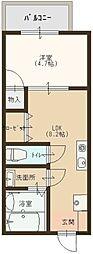 ハイネス・センターコート[7階]の間取り