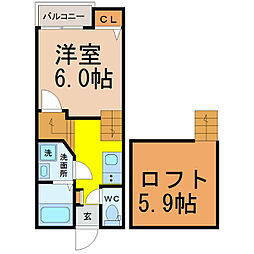 Creo六番町弐番館[1階]の間取り
