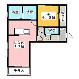 D−room東田中[1階]の間取り