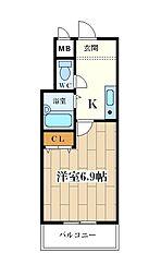 サンライズ大和田[20D号室]の間取り