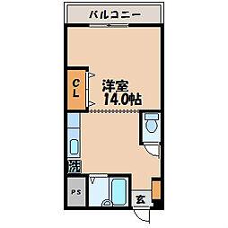 井関ビル[302号室]の間取り