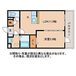静岡県静岡市葵区上土1丁目の賃貸マンションの間取り