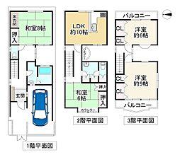 近鉄南大阪線 針中野駅 徒歩5分 4LDKの間取り