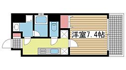 ラ・ウェゾン上沢[402号室]の間取り