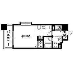 パルティーレEXE片平タワー 7階ワンルームの間取り