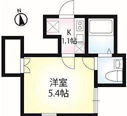 東京都江戸川区松島3丁目の賃貸アパートの間取り