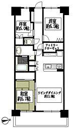 ゼファーヒルズトゥ横浜戸塚[2階]の間取り