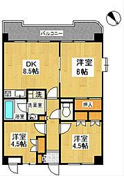神奈川県横浜市戸塚区汲沢4丁目の賃貸マンションの間取り