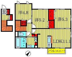 フォリウム−S[2階]の間取り