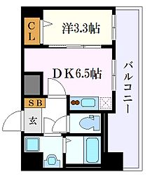 アステリ鶴舞エーナ 8階1DKの間取り