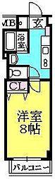 ルミエール西宮(櫨塚町)[202号室]の間取り