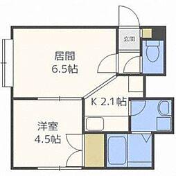 北海道札幌市西区八軒五条東3丁目の賃貸アパートの間取り