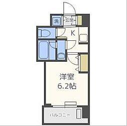 アクアプレイス梅田Ⅲ[6階]の間取り