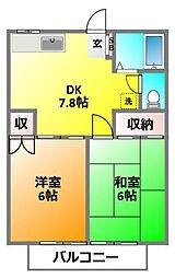 モンシャトー井上[1階]の間取り