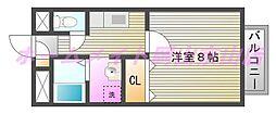 プロスペルB[2階]の間取り