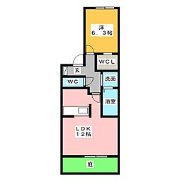 メゾン・リヴェール[1階]の間取り