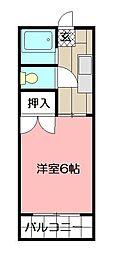 コテージ木町[102号室]の間取り