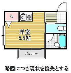 愛知県名古屋市千種区城山新町1丁目の賃貸マンションの間取り