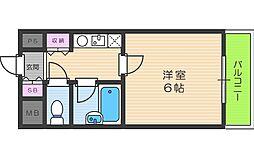 大阪府大阪市阿倍野区阿倍野筋3丁目の賃貸マンションの間取り