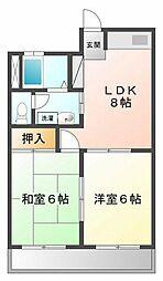 マンション・ハレクラニ[3階]の間取り