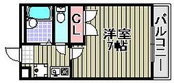 レオパレスクリスタル2[102号室]の間取り