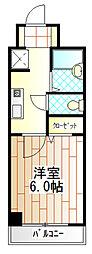 クレスト相模原[4階]の間取り