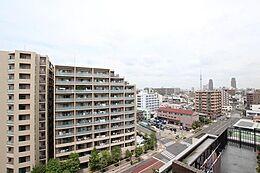 気持ちの良い眺望が広がります。江東の住宅街が一望できます。(眺望)